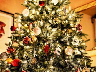 Albero di natale artificiali, albero di natale 210 cm,